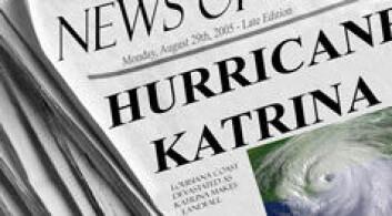 Mediene spiller en sentral rolle i naturkatastrofer.