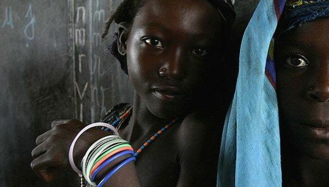 Skolejenter i Den sentralafrikanske republikk. (Foto: Wikimedia Commons, se lisens)