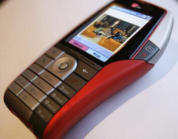 """""""Verdens første mobiltelefon med DAB IP-fjernsyn: HTC Trilogy. Foto: Virgin Mobile"""""""