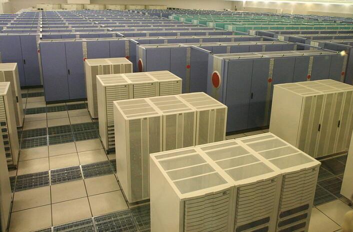 The Earth Simulator var den raskeste superdatamaskinen i verden i årene 2002 til 2004. Simulatorens oppgave er å kjøre globale klimamodeller for å undersøke effektene av den globale oppvarmingen. (Foto: Wikimedia Commons, se lisens her)