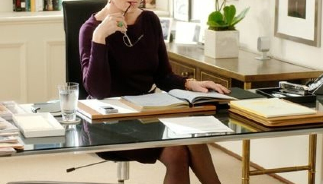 Maryl Streep som Miranda Priestly i The Devil Wears Prada. (Foto: Barry Wetcher/Twentieth Century Fox)
