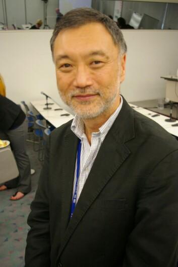 """""""Yoshihisa Shirayama mener de fleste studiene som gjøres på forsuring av havet er altfor korte. (Foto: Bjørnar Kjensli)"""""""