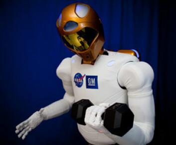 R2 er en veldig avansert robot som kan gripe og bruke gjenstander. (Foto: NASA)