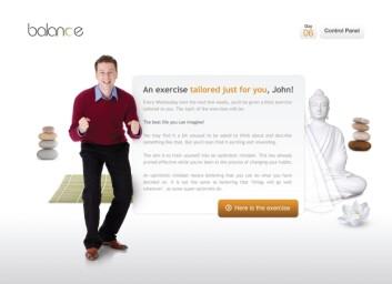 Gjennom programmet «Balance» skal du kunne endre uvanene dine hvis det er behov for det. (Illustrasjon: Changetech)