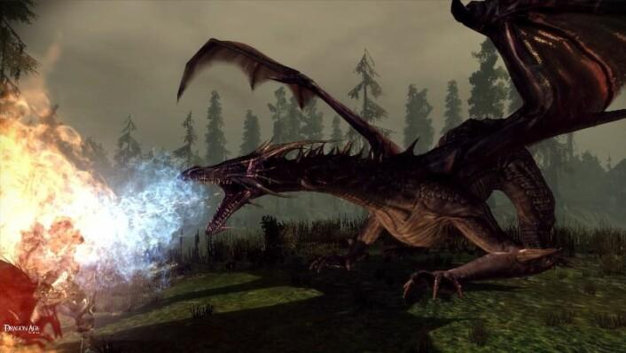 I spillet Dragon Age kan du velge deg karakter som menneske, alv eller dverg, og legge ut på tur for å bryne deg på en fryktinngytende drager. Kanskje greit at du slipper å bli grillet av dette spetakkelet i virkeligheten? (Bilde: BIO WARE / EA Games)