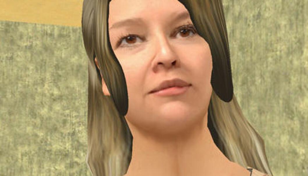 Mann i virtuell kvinnekropp