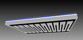 Alle kontakter som leder strøm ligger på baksiden av solcellen. Slik unngår man at solllys blir reflektert bort. (Illustrasjon: Krister Mangersnes)