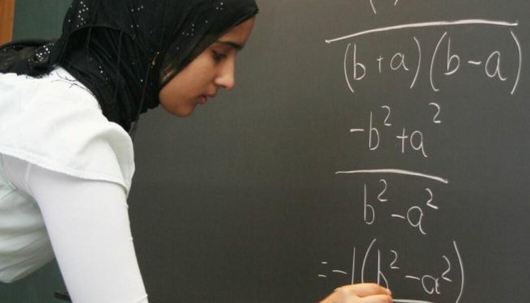 """Sadaf Afsheen Khan temme algebra. (Foto: Andreas Graven)"""