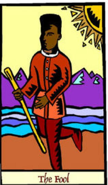 """""""Tarotkort - kanskje ikke tilfeldig at The Fool var det første kortet vi fant bilde av..."""""""