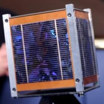 Cubestar-satelitten. (Foto: Yvonne Rinne, UiO)