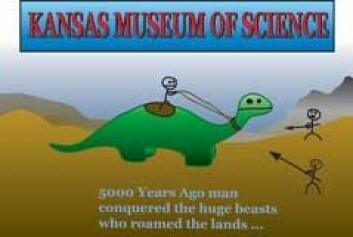 """""""Spagettikirkens forslag til plakat for Kansas Museum of Science. (Kilde: www.venganza.org)"""""""