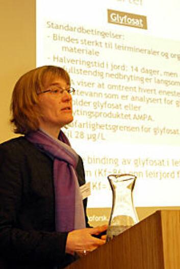 Forskningssjef Marianne Bechmann ved Bioforsk. (Foto: Tom Erik Økland)