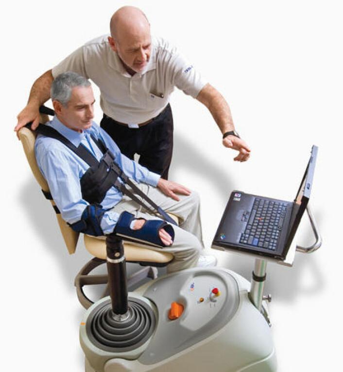 Fysioterapiroboten kan hjelpe ved slag. (Foto: Motorika-ReoTherapy)