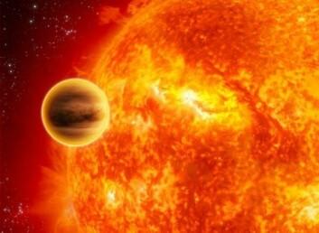Transit av en planet foran sin moderstjerne. (Foto: ESA)