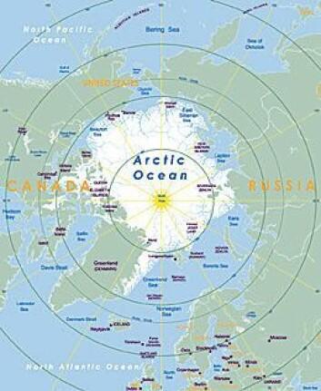 Isdekket i Arktis er betydelig redusert de siste ti årene. Endringer i vindretningen gjør at store ismasser skyves vekk fra Arktis og ned langs østsiden av Grønland. (Illustrasjon: Shutterstock)
