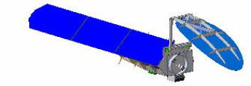 Et tidlig utkast til hvordan CoReH2O-satellitten kan bli seende ut.