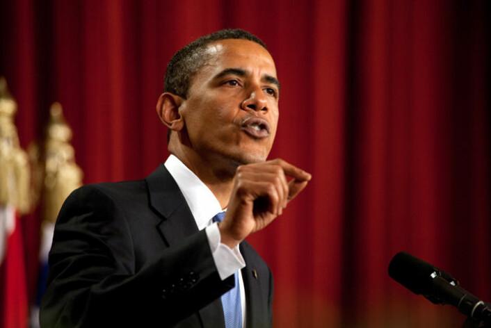 USAs president Barack Obama har forkastet retorikken fra sin forgjenger og vil ha en ny start i forhold til den muslimske verden. Bilde fra talen i Kairo. (Foto: Det hvite hus/Wikimedia)