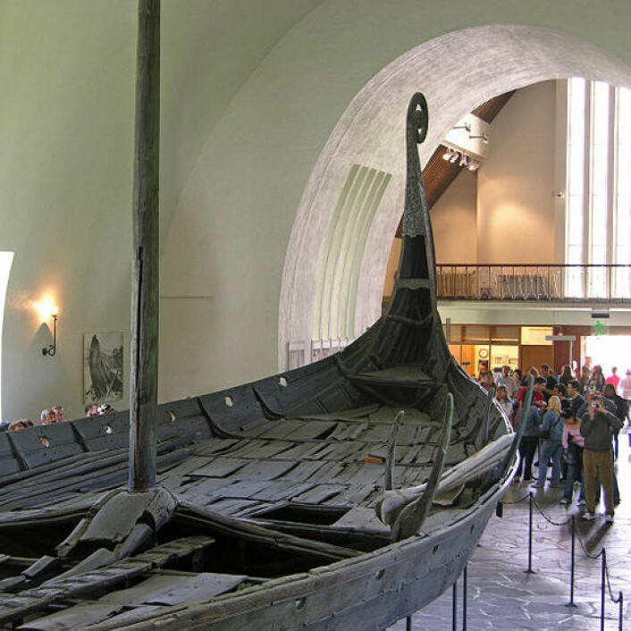Osebergskipet. (Foto: Wikimedia Commons)