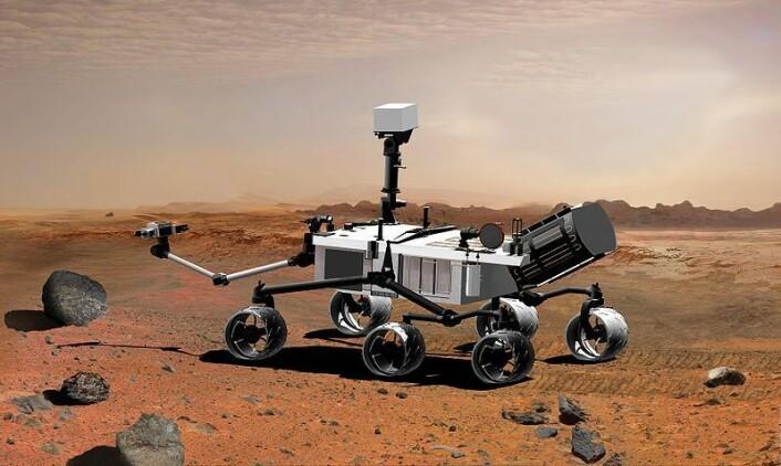 Den nye Mars-roveren «Curiosity» skal gå på nedbrytbar plutonium. (Illustrasjon: Wikimedia Commons)