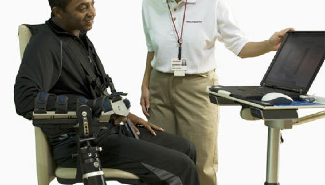 Robotfysioterapi hjelper slagpasienter