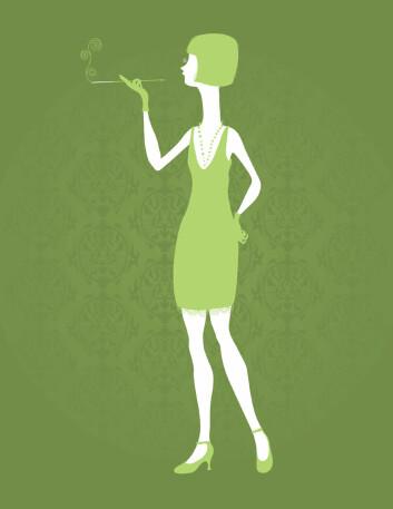 """""""I vestlige land ble røyking blant unge kvinner et symbol for en friere kvinnerolle på 1920-tallet. (Illustrasjon: iStockphoto)"""""""