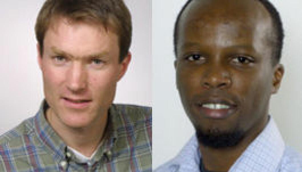 Even Heir og Olivier Habimana fra Nofima Mat (Foto: Nofima)