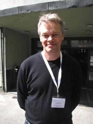 """""""Edvard Moser, her på nevrovitenskapskonferanse i Bergen i vår. (Foto: Marianne Nordahl)"""""""