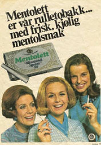 """""""Reklame for tobakk på 1960- og 1970-tallet rettet seg mot en kvinnerolle i endring der flere ble yrkesaktive..."""""""