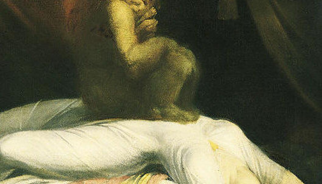 Utsnitt av maleriet Mareritt (1781) av Johann Heinrich Füssli. (Foto: Wikimedia Commons, se lisens her)