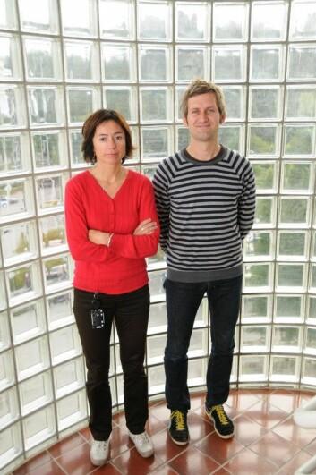 Vil redusere risiko: Seniorforskarane Brita Gjerstad og Anders Vassendenlegg fram forslag til korleis ulukkesrisikoen kan reduserast. Prosjektleiar Christin Berg var ikkje til stades då biletet var teke. (Foto: IRIS)