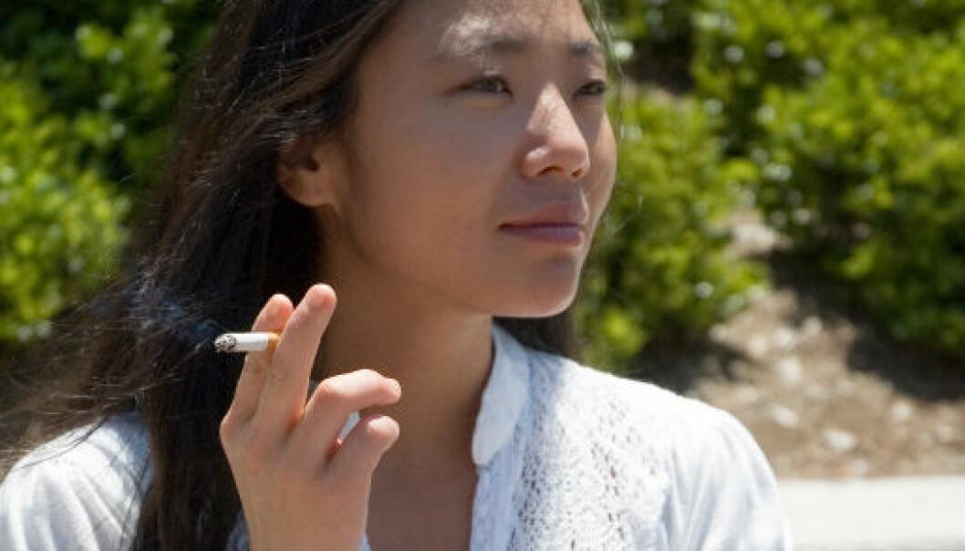 Tobakksindustrien sikter mot asiatiske kvinner