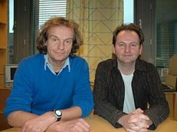 Forskerne Tommy Tranvik og Dag Wiese Scartum jobber begge med forskningsprosjektet Personvernskolen.