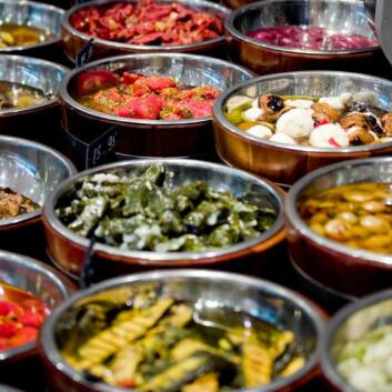 Frukt og grønt er viktig i middelhavskost. (Foto: iStockphoto)