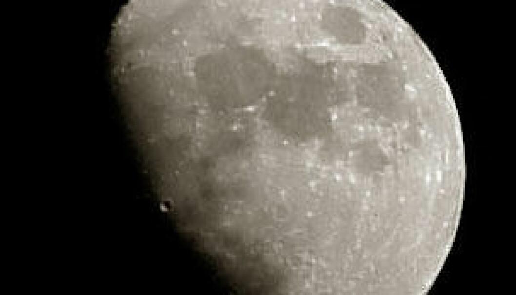 Månen krymper