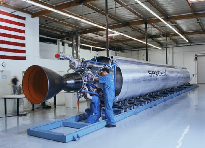 """""""En Falcon-rakett produsert av det private selskapet SpaceX. (Foto:SpaceX) """""""