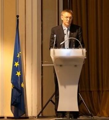Janez Potočnik, EUs kommissær for forskning og vitenskap, på konferansen i Praha. (Foto: Michal Ures)
