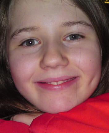 Bjørg med sitt ene smilehull (Foto: privat)