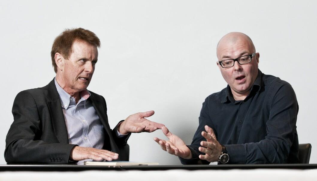 ENDRINGSBEHOV: Deler av samfunnsvitenskapene er kommet inn i et feil spor. Nå må de løftes på plass igjen, mener Knud Knudsen (t.v.) og Kjell G. Salvanes. (Foto: Helge Hansen)
