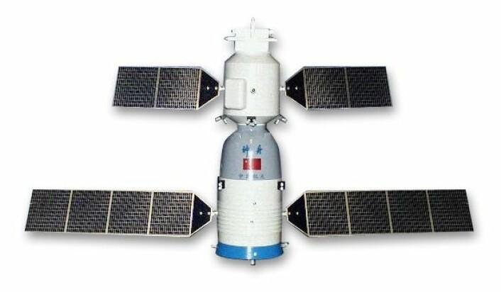 """""""En modell av et kinesisk Shenzhou-fartøy. (Illustrasjon: Wikimedia Commons/Steven S. Pietrobon"""""""