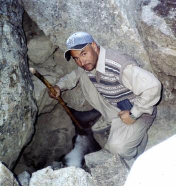"""""""Inspeksjon av en baby-bre i Baltistan"""""""