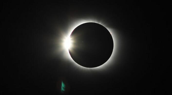 Solformørkelse 1. august 2008 (Foto: Arne Danielsen/astronomi.no)