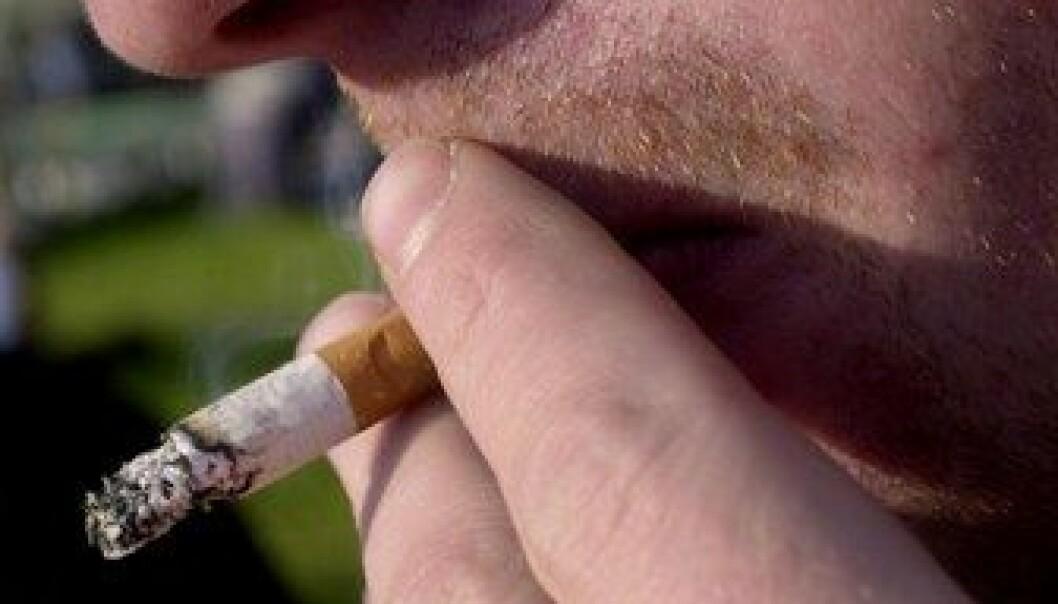 Mer intens røyking blant menn
