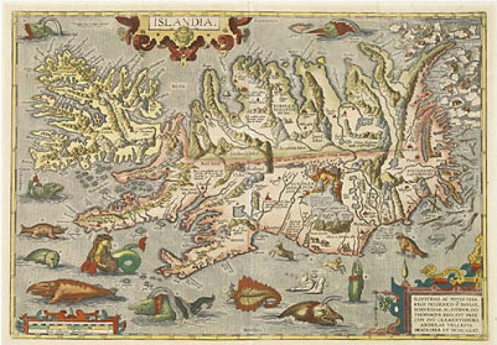 Abraham Ortelius' kart over Island.