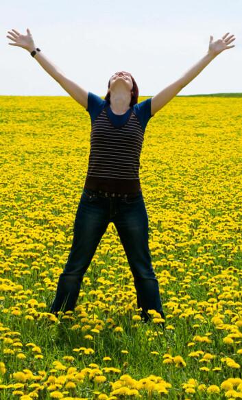 Hvis du vil være lykkelig, må du lære å se treningen i en større, positiv sammenheng. (Foto: Colourbox)