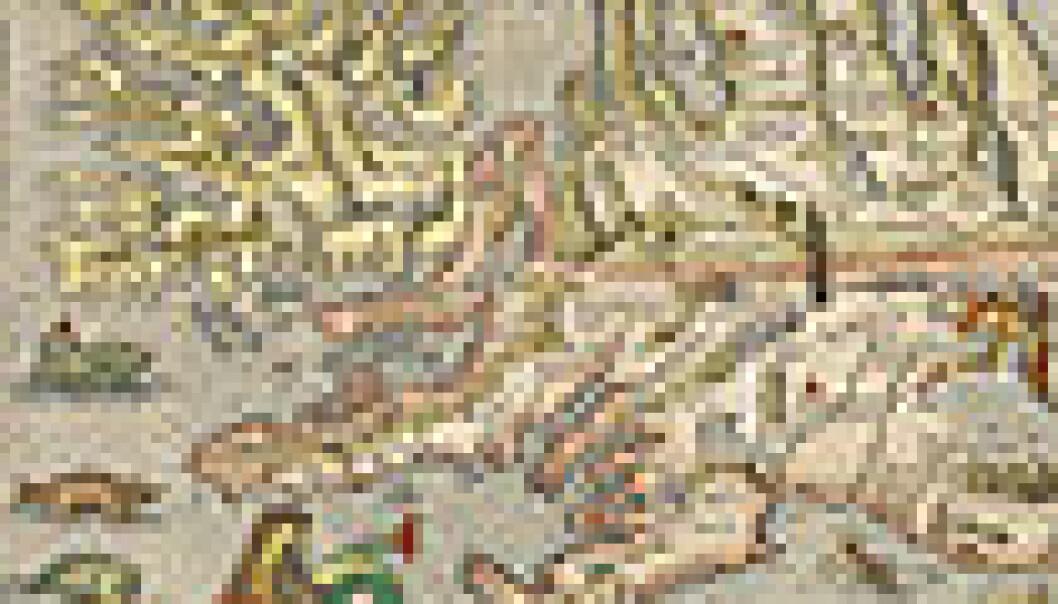 Abraham Ortelius kart over Island.