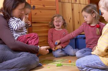 """""""Det kan lett bli gråt og tenners gnissel i barnehagen. (Foto: www.colorbox.no)"""""""