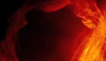 SDO har fanget opp denne utblåsningen på sola. (Foto: NASA)