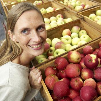 """""""Fordi vi spiser så mye av dem, er epler viktig for helsen i Norge, sier Siv Fagertun Remberg."""""""