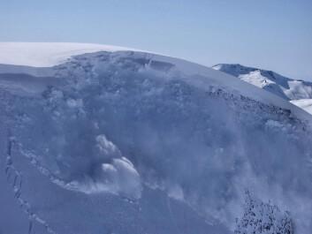 """Utløsning av skred i Ryggfonn, forskningsstasjon og fullskala """"laboratorium"""" for snøskred i Strynefjellet, ett av to slike i verden. (Foto: NGI)"""