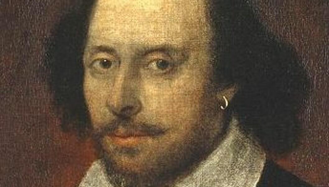 """""""Antakeligvis William Shakespeare, muligens malt av hans venn Richard Burbage rundt 1600. (Kilde: Wikimedia Commons)"""""""